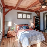 North Asheville Timberpeg bedroom