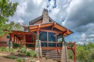 green, energy efficient mountain home