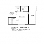 Skylar, second floor plan, Southcliff, Asheville