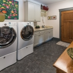 Black Mountain Transitional Craftsman laundry room