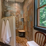 Black Mountain Transitional Craftsman shower