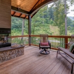 Black Mountain Transitional Craftsman covered porch