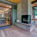 Black Mountain Transitional Craftsman outdoor fireplace