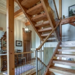 Asheville Timberpeg staircase