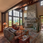 Black mountain craftsman living room
