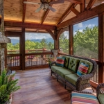 Black mountain craftsman screen porch