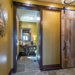 Black mountain craftsman sliding door
