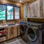 Black mountain craftsman laundry room