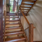Black mountain craftsman staircase
