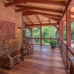 Black Mountain craftsman covered deck