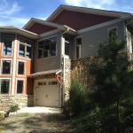 Black Mountain renovation - three story turret, spiral staircase