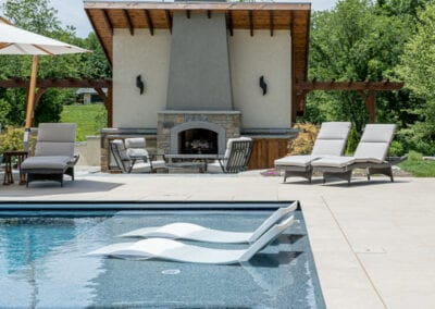Living Stone Design+Build Pool and fireplace