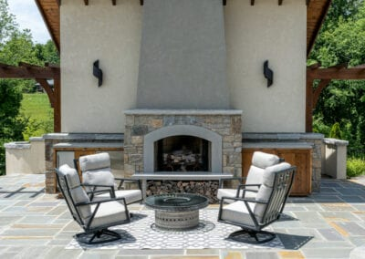 Living Stone Design+Build Cabana Front View