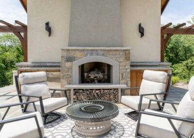 Living Stone Design+Build Fireplace Lounge