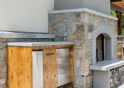 Living Stone Design+Build Fireplace Bar