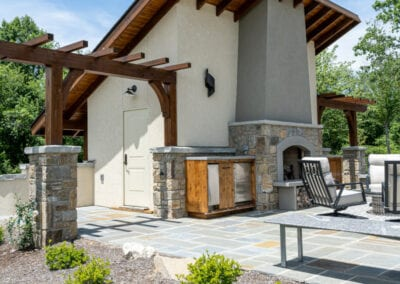 Living Stone Design+Build Outdoor Fireplace