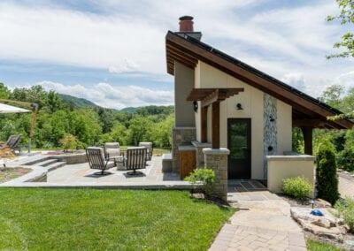 Living Stone Design+Build Cabana Side View
