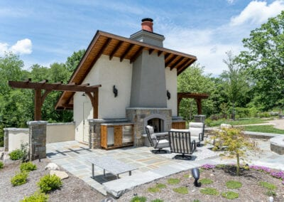 Living Stone Design+Build Fireplace side view