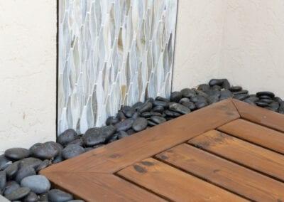 Living Stone Design+Build Pool Shower Floor