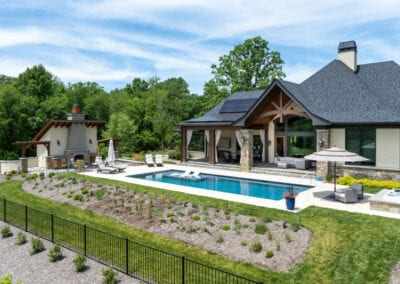 Living Stone Design+Build Pool House View