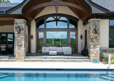 Living Stone Design+Build Pool and House Detail