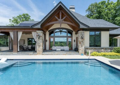Living Stone Design+Build Pool and Back Door
