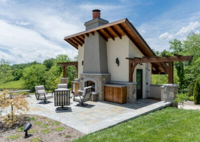 Living Stone Design+Build Outdoor Fireplace Furniture