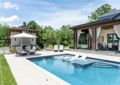 Living Stone Design+Build Pool Lounge Area