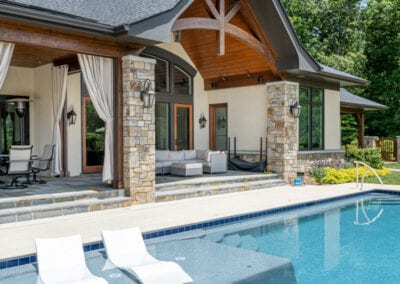Living Stone Design+Build Pool side view