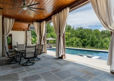 Living Stone Design+Build cabana table