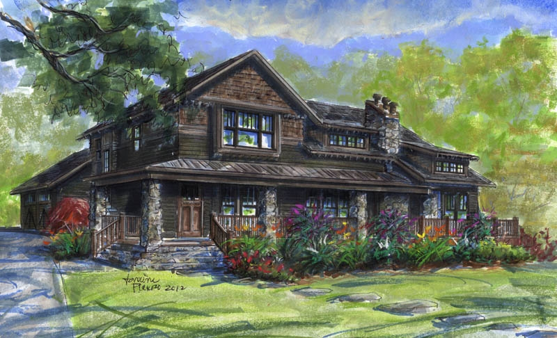 woodhaven house plan, Southcliff, Asheville