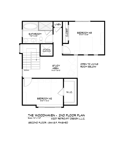 The woodhaven living stone construction Aging in place floor plans